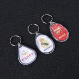 La tarjeta conocida plástica de escritura de la etiqueta de la identificación del clave marca los Keyrings de Keychains con etiqueta
