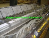 Guichet de PVC et ligne machines d'extrusion de profil de porte de plastique
