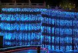 Lumières de décoration de jardin d'usager de maison de lumière de cascade à écriture ligne par ligne de DEL