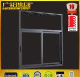 Porte de vitre coulissante en aluminium à faible encombrement et porte d'entrée à écran plat à glissement automatique