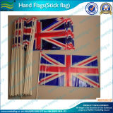 Poteaux en bois à main nationale National Hand Hold Flag (M-NF10F02004)