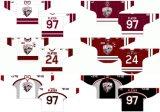 Liga de Hóquei de Ontário personalizados Guelph Storm 1999-2010 Home e camisolas de hóquei no gelo de Estrada