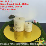 4mm Large Round Yellow Glass Candle Holder