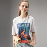민감하는 디지털에 의하여 인쇄되는 개인화된 주문 면 여자 t-셔츠