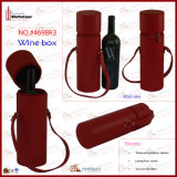 관 Design Round Leather Wine Tote (4698R5)
