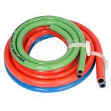 Différentes tailles de boyau jumeau bleu et rouge de soudure de PVC