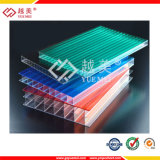 con precio transparente coloreado ULTRAVIOLETA del material para techos de la PC de la hoja de la depresión del policarbonato