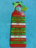 Diseño de Navidad caliente pulseras de silicona de la correa de la cerveza