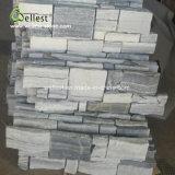 Lichtgrijze Cement Gecultiveerde Steen voor de BuitenBekleding van de Muur