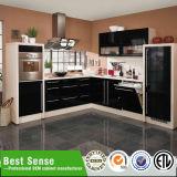 オーストラリアの標準贅沢で標準的で黒いカスタマイズされた食器棚