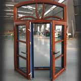Round Top fleur Prix de la fenêtre Design avec revêtement aluminium Grilles à ossature de bois de chêne