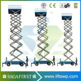6m-12m Mobile Semi-Electric Mobile Platform Scissor Lift