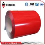 L'épaisseur Ideabond divers PVDF Pre-Paninting décoratifs extérieurs de la bobine en aluminium