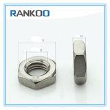 En acier inoxydable contre-écrou hexagonal minces 304/316