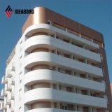 Material de aluminio competitivo de la cubierta de la pared del precio PVDF de Ideabond (AF-406)
