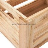 Pack de vinil de madeira sem acabamento em madeira de armazenamento de caixas de engradados de registro em tamanhos diferentes