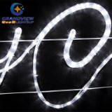 "生気に満ちた290cm Wide LED Whiteの""陽気なChristmas"" Motif Rope Lights"