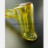 Pipe en verre jaune de fumée de 5.9 pouces de réutilisation de tabac de filtre