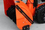 """375cc (13HP) 28 """"雪エンジンのチェーン駆動機構2stageの手押し式雪かき機"""