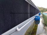 PVC 프레임 냉각 패드 시스템 검정 코팅 냉각 패드