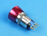 Commutateur de bouton poussoir imperméable à l'eau d'arrêt d'urgence en métal IP67 (LAS1-19A-11SR)
