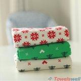 Toalha de chá da cozinha do Natal do algodão