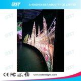 P2.98mm gebogene HD farbenreiche LED-Innenbildschirmanzeige für Einkaufszentrum