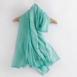 Les femmes façonnent à coton ordinaire de couleur l'écharpe en soie (YKY1148)