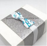 Pre-Сделанный напечатанный логосом натянутый лук тесемки для упаковывать коробки