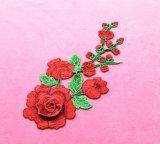 Stock usine Hot vendre broderie 20180612-2 Rosa fleur