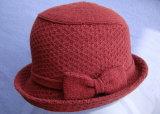 Cappello delle lane lavorato a maglia jacquard di modo con il cappello Brown benna/dell'arco