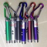Выдвиженческое keychain лазера СИД лазера Keychain СИД UV светлое с крюком Climing горы