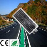 Indicatore luminoso di via solare di alluminio del sensore di movimento LED