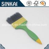 Pennello di plastica verde della maniglia con la setola nera