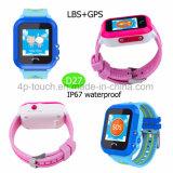 À prova de IP67 Kids Vigilância inteligente Rastreador GPS com slot para cartão SIM D27