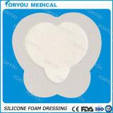 Da película Diabetic Diabetic do plutônio do cuidado de pele do OEM do tipo do silicone limpezas macias da espuma do silicone de Mepilex