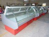2,5M vidro curvo comercial talhos frigoríficos