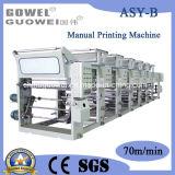 Machine d'impression de gravure de feuille de plastique de 6 couleurs
