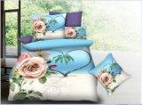 最新のデザインデジタルプリント寝具3Dの羽毛布団のカバーシート一定ポリエステル寝具セット