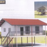 Edificio prefabricado de la estructura de acero de la casa para Papua Nueva Guinea
