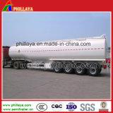 42000litres de diesel de l'acier semi-remorque de camion-citerne à carburant réservoir métallique