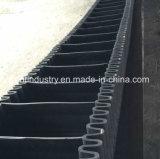 De golfdie Transportband van de Zijwand Op Macht wordt gebruikt Filed