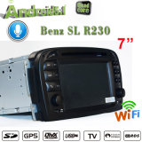 Sustentação antiofuscante do Benz SL-R230 com o vídeo estereofónico da vídeo DVD 3G WiFi do GPS Navradio do carro de Carplay nas unidades W GPS do traço