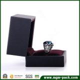 Caixa de jóia plástica da embalagem preta feita sob encomenda
