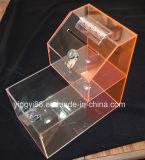 Bester verkaufender Acrylplastikehrenkasten mit Verschluss u. Schlüssel