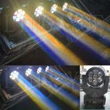 Van het LEIDENE van DJ van het stadium Was 7X15W van het Gezoem van de Straal de Bewegende HoofdOog van de Bij Lichte