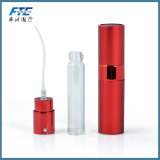 La botella de perfume de cristal de aluminio del atomizador de encargo Tuerce-para arriba