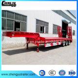 China 3 Assen 14 van de Zware van de Apparatuur Meters Aanhangwagen van Lowbed Semi