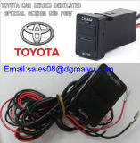 Car 3.1A Dual USB Port Socket + Fuse Cell Phone Charger + entrada de áudio para Toyota