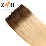 18 pulgadas dos del tono del pelo humano de pelo Weft de la muestra